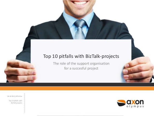 Top 10 pitfalls with BizTalk-projects The role of the support organisation for a succesful project  28-10-2013, BTUG.be To...