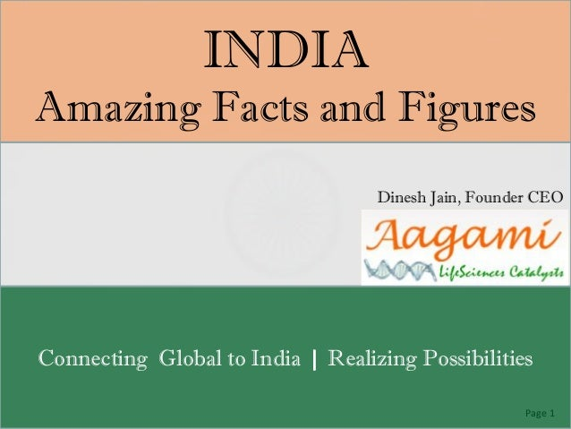 INDIAAmazing Facts and Figures                                   Dinesh Jain, Founder CEOConnecting Global to India | Real...