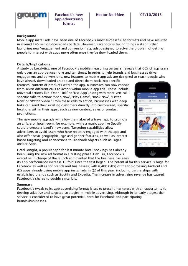 2013 10 7 group m digital pov   facebook's new app advertisting format