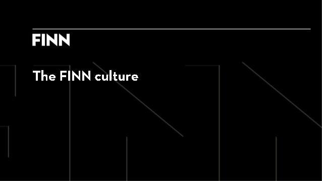 The @FINNbe Culture