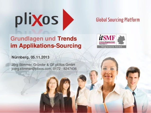 Grundlagen und Trends im Applikations-Sourcing Nürnberg, 05.11.2013 Jörg Stimmer, Gründer & GF pliXos GmbH joerg.stimmer@p...