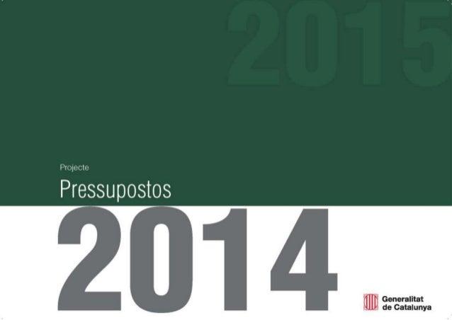 Projecte de Pressupostos de la Generalitat 2014