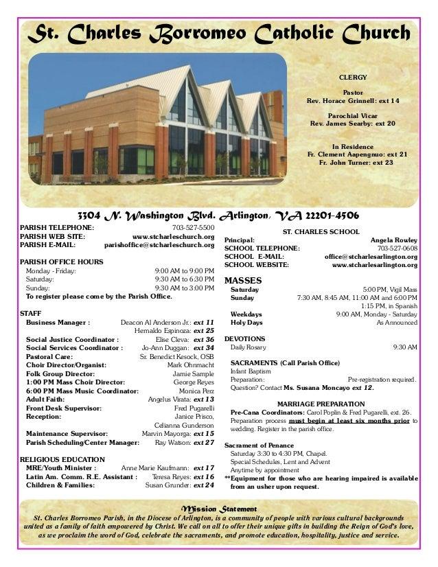 Bulletin for november 10 2013 st charles borromeo catholic church for How to make a church bulletin