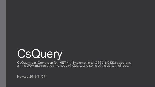20131108 cs query by howard