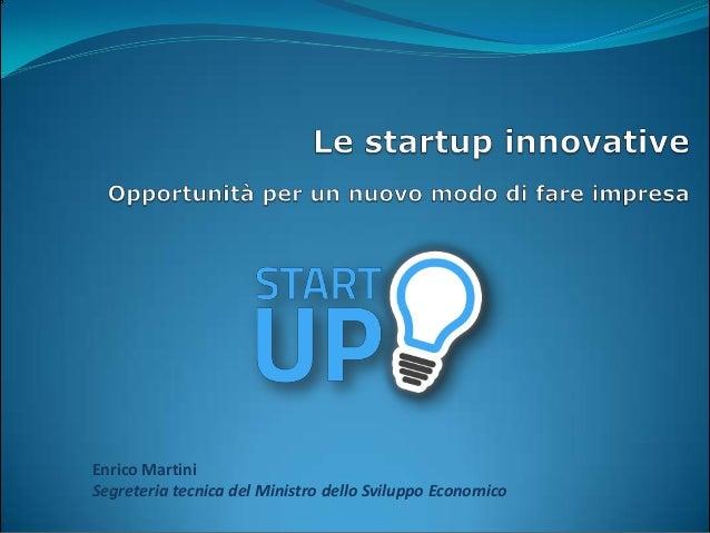 Le start-up innovative opportunita per un nuovo modo di fare impresa