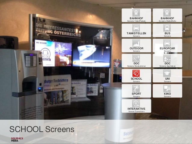 BAHNHOF  BAHNHOF  Screens VideoPlakate  Screens MediaWalls  TANKSTELLEN  BUS  Screens  Screens  OUTDOOR  EUROPCAR  Screens...