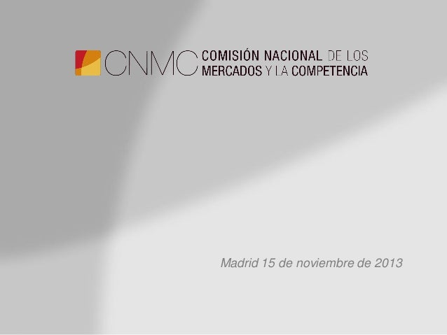 Madrid 15 de noviembre de 2013
