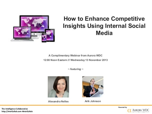How to Enhance Competitive Insights Using Internal Social Media  A Complimentary Webinar from Aurora WDC 12:00 Noon Easter...