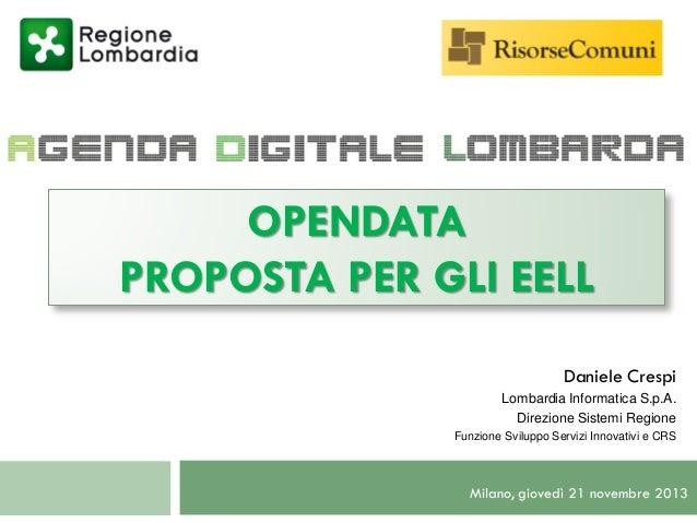 2013 11 21 Risorse Comuni - OpenData x EELL