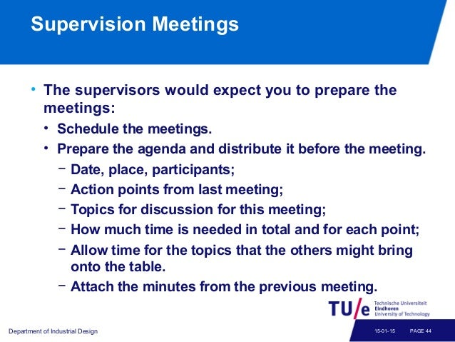 Dissertation supervisor meeting