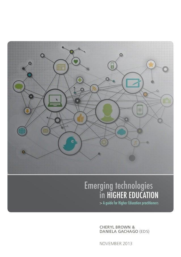 > A guide for Higher Education practitioners  CHERYL BROWN & DANIELA GACHAGO (EDS)  NOVEMBER 2013