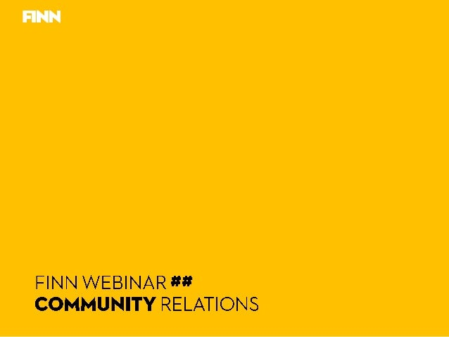 FINN Webinar Community Relations