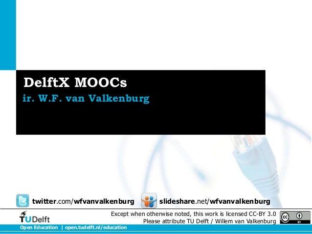 DelftX Moocs voor NUV