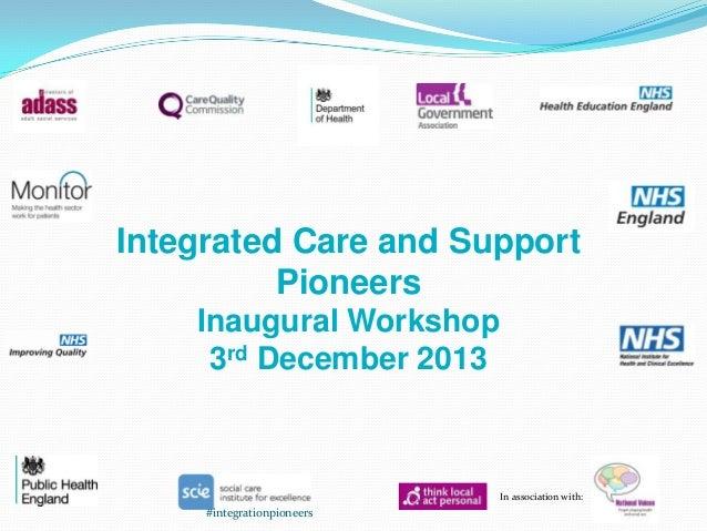 Integration Pioneers workshop 3 December 2013