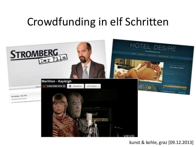 Crowdfunding in elf Schritten  kunst & kohle, graz [09.12.2013]