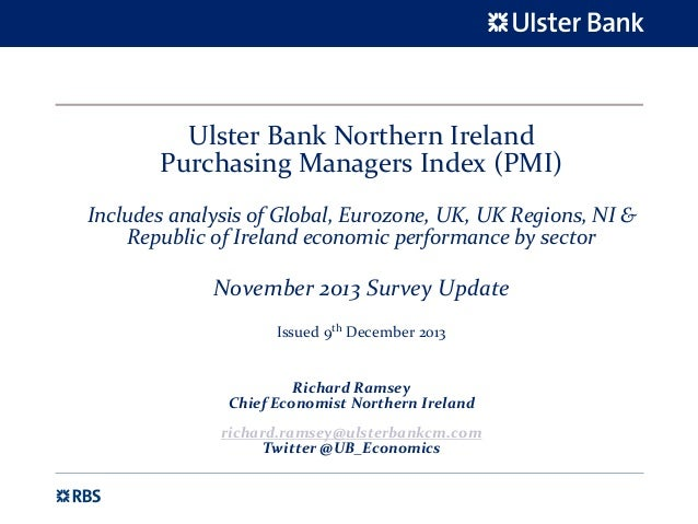 Ulster Bank Northern Ireland Purchasing Managers Index (PMI) - November 2013