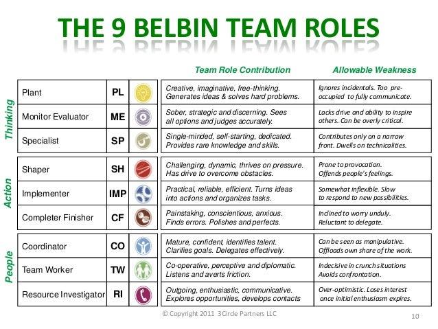 belbin team roles essay