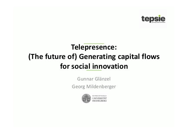 Financing Social Innovation (TEPSIE), SIX TelePresence December 2013