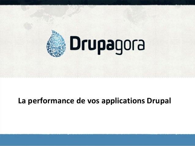 La performance de vos applications Drupal