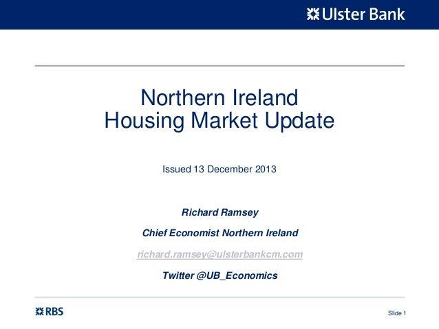 NI housing market update - December 2013