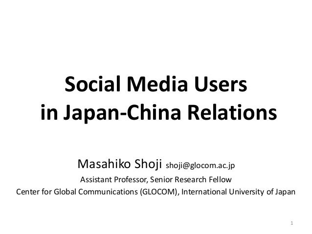 Social Media Users in Japan-China Relations