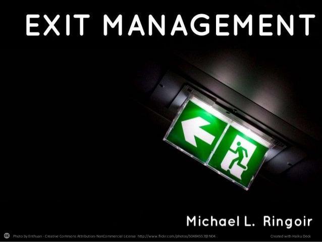 Exit Management - Human Resources - Dutch
