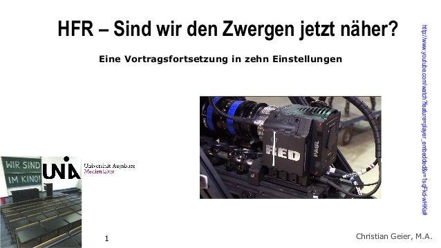 Eine Vortragsfortsetzung in zehn Einstellungen  1  http://www.youtube.com/watch?feature=player_embedded&v=1sqFkd-wHKs#  HF...
