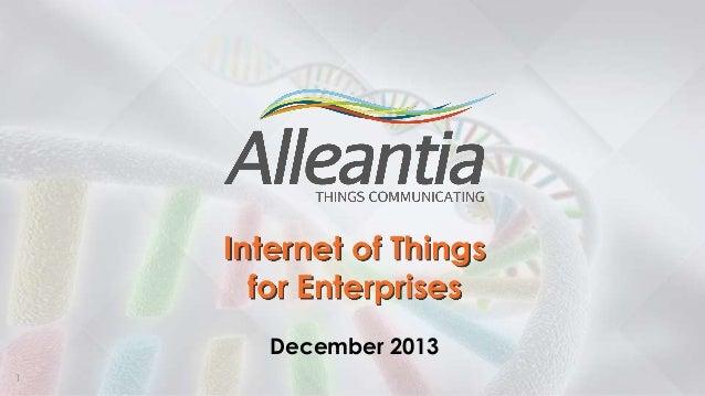 Alleantia - internet of things for enterprises - enabling data-driven organizations