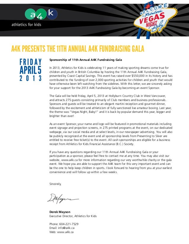 A4K presents the 11th Annual A4K Fundraising Gala   F r i d ay   Sponsorship of 11th Annual A4K Fundraising Gala   April 5...