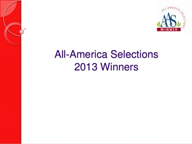 All-America Selections     2013 Winners