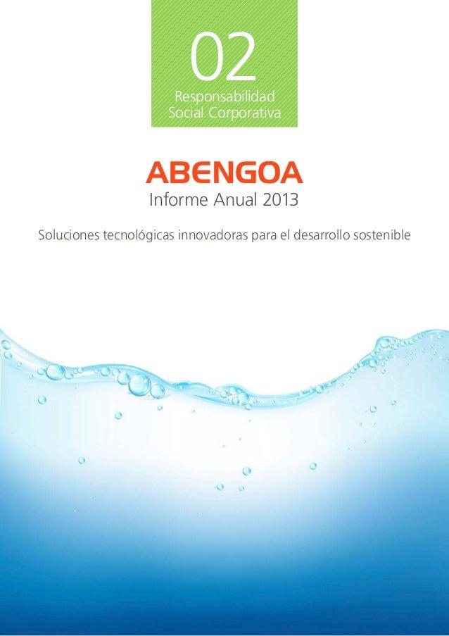 Abengoa Informe Anual 2013 - RSC