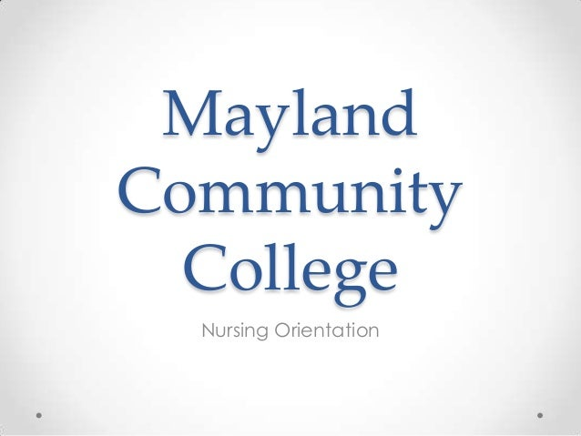 MCC Nursing Orientation