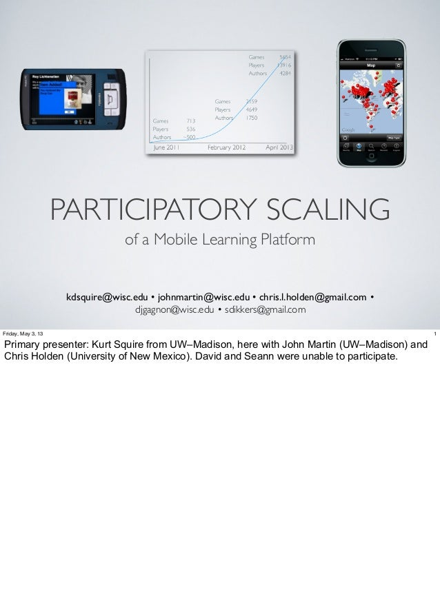 Participatory Scaling of a Mobile Learning Platform
