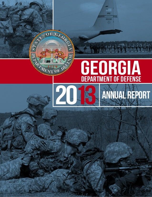 2013 Georgia Department of Defense Annual Report