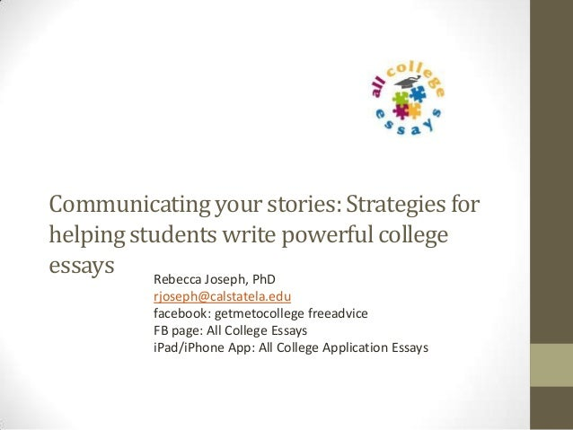 Tips for writing your college application essay