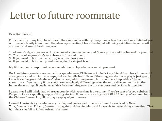 to future roommate stanford essay letter to future roommate stanford essay