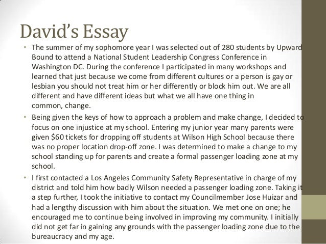 What do you think of my essay? (for college application)?