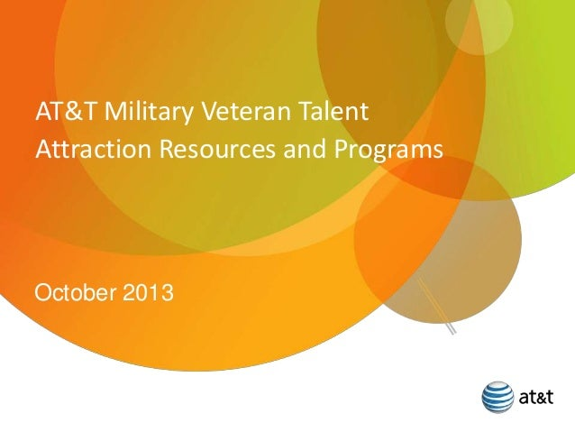 AT&T Military Veteran Talent Attraction Resources and Programs  October 2013