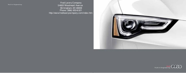 2013 Audi A5 Brochure MI | Detroit Audi Dealer