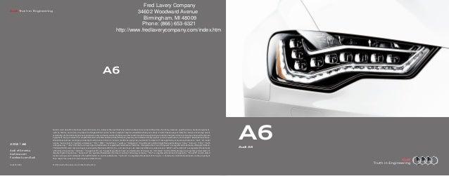 2013 Audi A6 Brochure MI | Detroit Audi Dealer