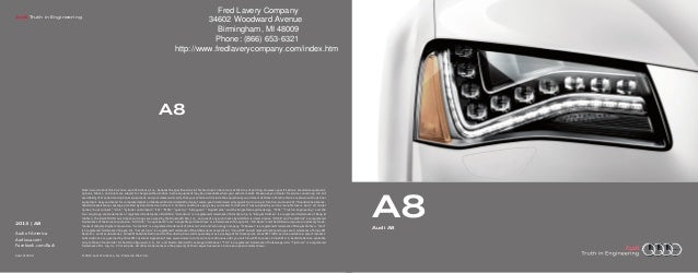 2013 Audi A8 Brochure MI | Detroit Audi Dealer