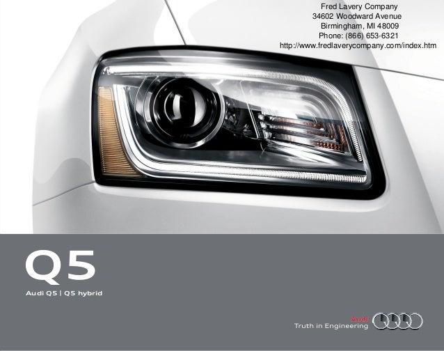 2013 Audi Q5 Brochure Mi Detroit Audi Dealer