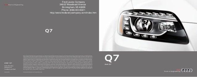 2013 Audi Q7 Brochure MI | Detroit Audi Dealer