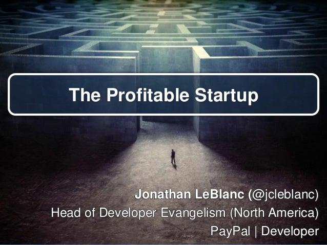 The Profitable Startup