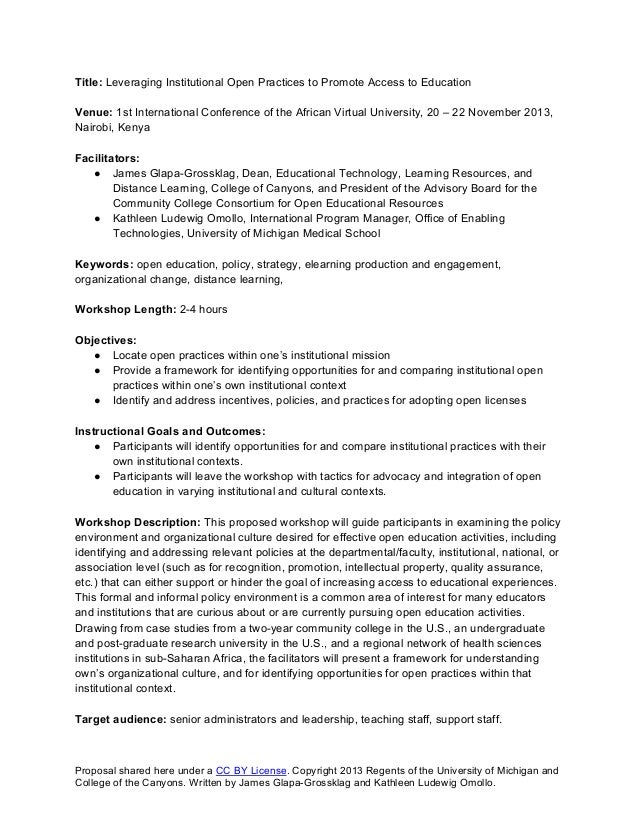 Title: Leveraging Institutional Open Practices to Promote Access to Education Venue: 1st International Conference of the A...