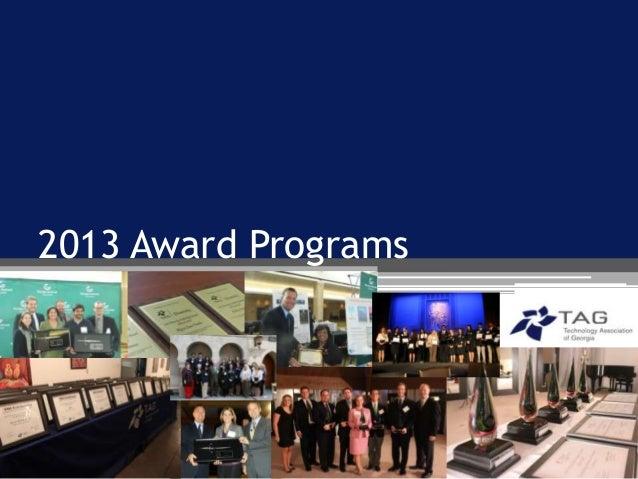 2013 award programs