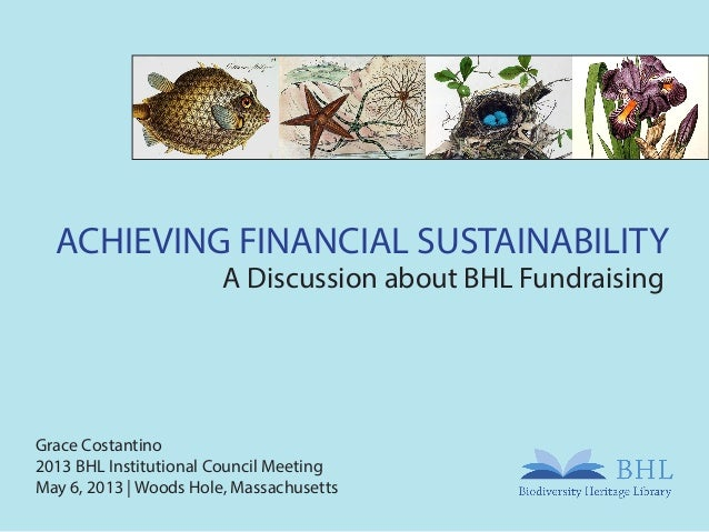 Achieving Financial Sustainability: A Discussion about BHL Fundraising