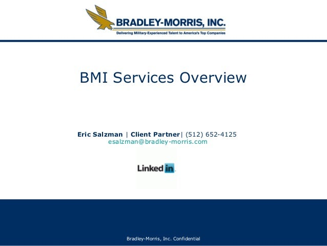 2013 BMI Overview