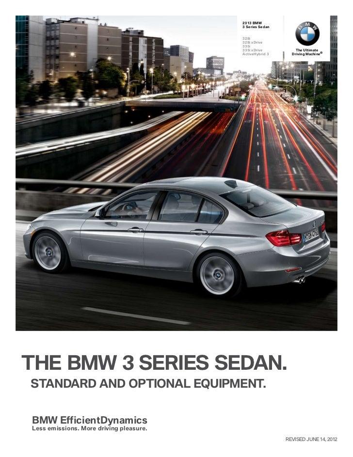 2013 bmw 3 series Sedan Specs