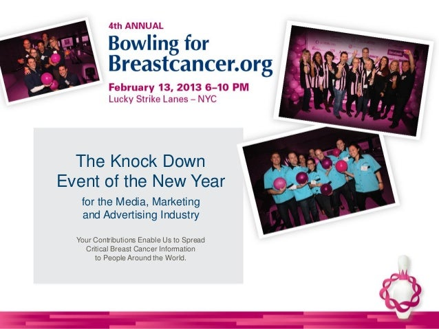 2013 NYC Bowling for Breastcancer.org Sponsorship Options 111412
